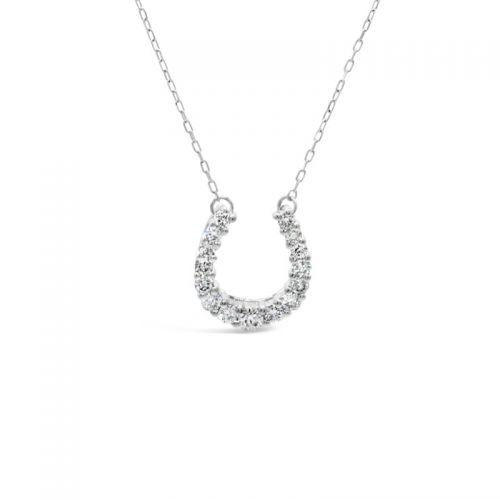プラチナ950 ダイヤモンド馬蹄モチーフペンダント 0.2CT