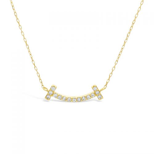 K18イエローゴールド ダイヤモンドスマイルペンダント 0.07CT