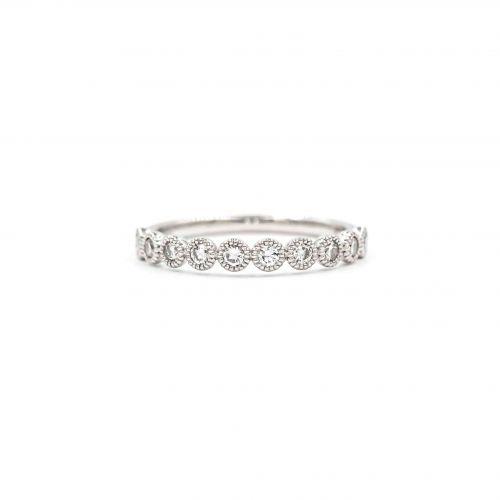 プラチナ950 ハーフエタニティダイヤモンドリング0.3CT