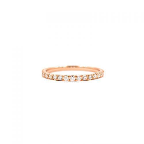 K18ピンクゴールド ダイヤモンド フルエタニティーリング0.5CT