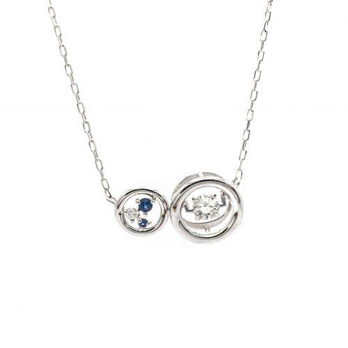 Top Swing Collection K18WG サファイヤ&ダイヤモンドネックレス
