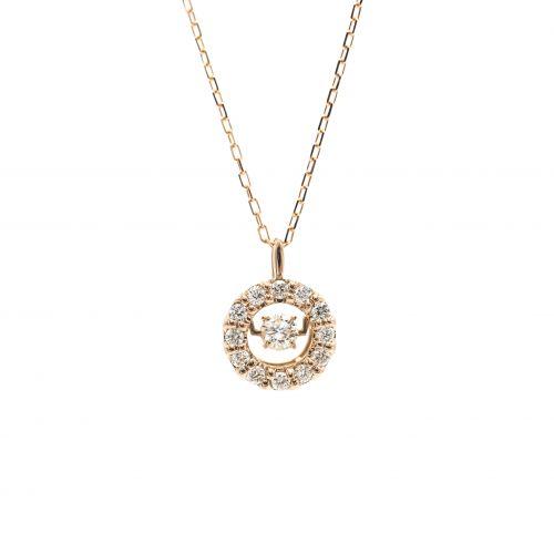 Top Swing Collection K18YG サークルダイヤモンドネックレス