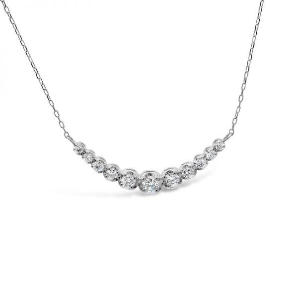 プラチナ950 ダイヤモンドラインネックレス 0.2CT