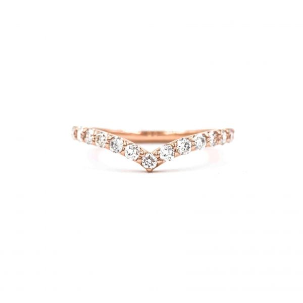 Ring Half Eternity Pink Gold k18 with Diamond 0.50ct