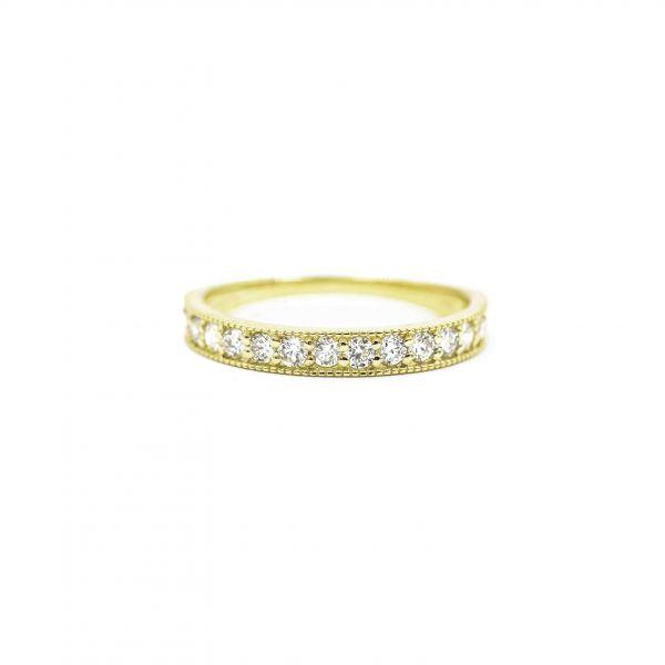 Half Eternity Diamond Ring  0.50ct in Yellow Gold K18