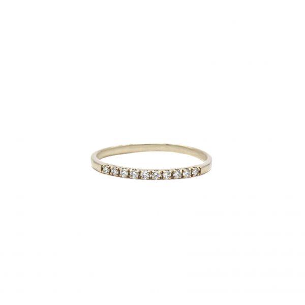 Ring Diamond 0.50ct in Half Eternity Pink Gold K18