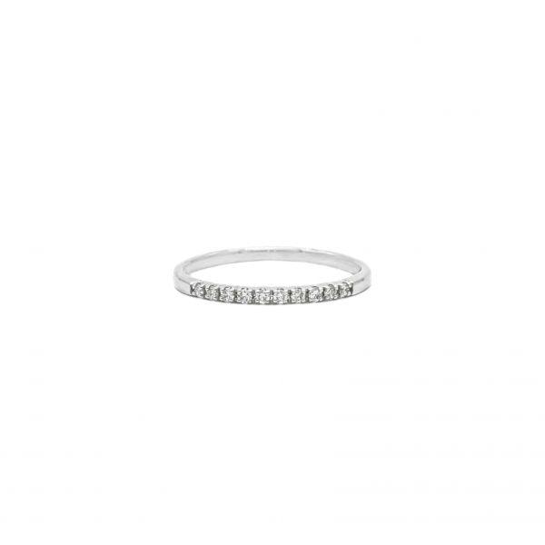 Diamond Ring  0.50ct in Half Eternity Platinum