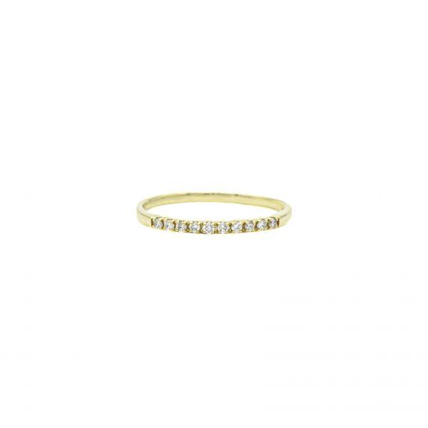 Ring Diamond 0.50ct in Half Eternity Yellow Gold K18