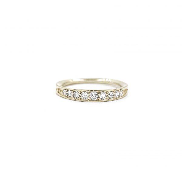 Ring Diamond 0.50ct in Half Eternity Platinum