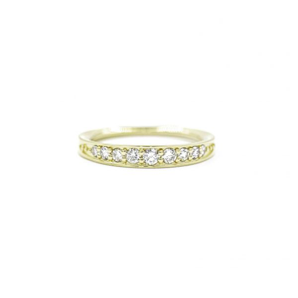 Diamond Ring 0.50ct in Half Eternity Pink Gold K18