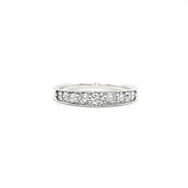 Diamond Ring  of 0.50ct in Half Eternity Platinum