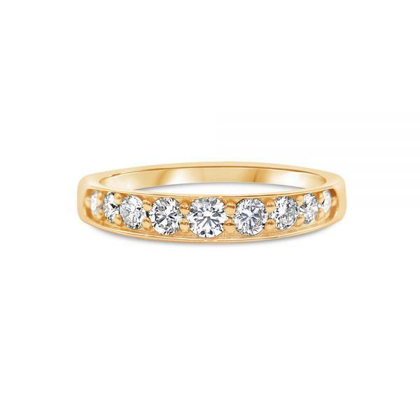 Diamond Ring 0.50ct in Half Eternity K18 Pink Gold