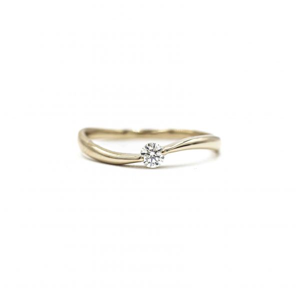 Certified Diamond Ring 0.10ct Heart and Cupid in  K18 in Pink Gold