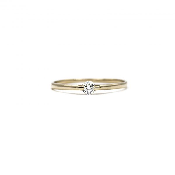 Certified Diamond Ring 0.10ct Heart and Cupid in K18 Pink Gold