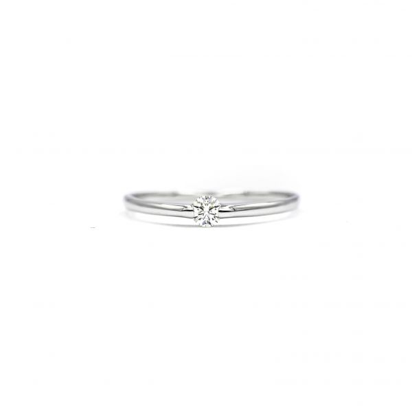 Certified Diamond Ring 0.10ct Heart and Cupid in Platinum