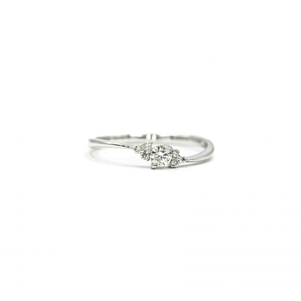 Certified Diamond Ring 0.14ct Heart and Cupid in Platinum