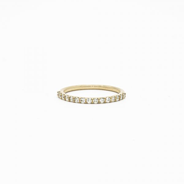 Ring Diamond 0.25ct in Half Eternity Pink Gold K18