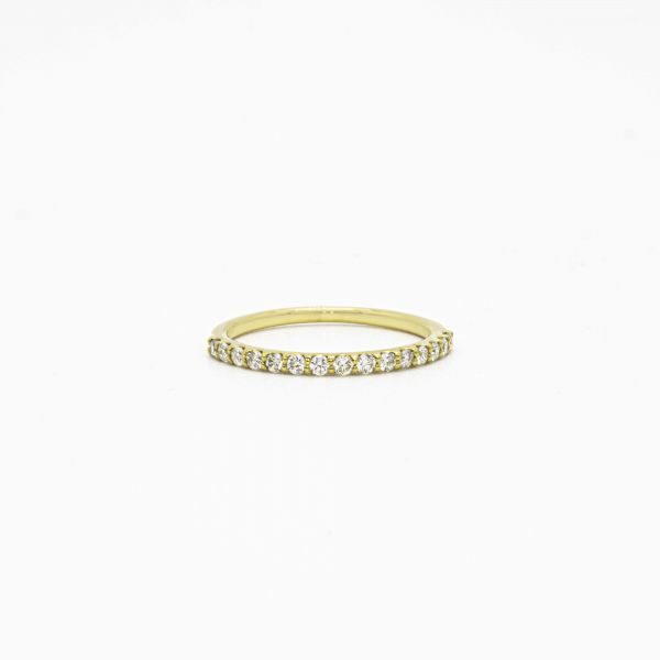 Ring Diamond 0.25ct in Half Eternity Yellow Gold K18
