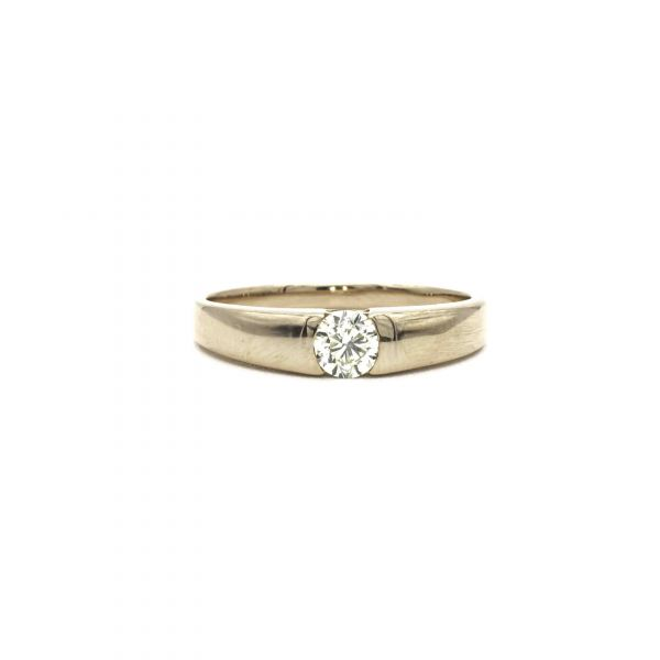 Certified Diamond Ring 0.30ct Heart and Cupid in Pink Gold K18
