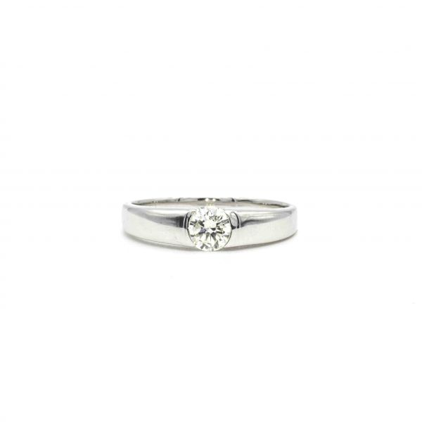 Certified Diamond Ring 0.30ct Heart and Cupid in Platinum