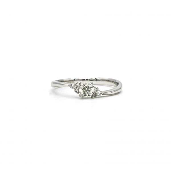 Certified Diamond Ring 0.26ct Heart and Cupid in Platinum