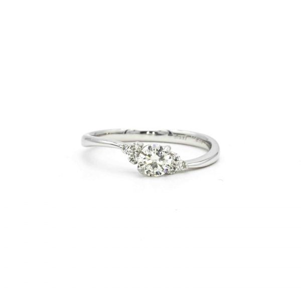 Certified Diamond Ring 0.36ct Heart and Cupid in Platinum