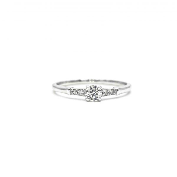 Certified Diamond Ring 0.24ct Heart and Cupid in Platinum
