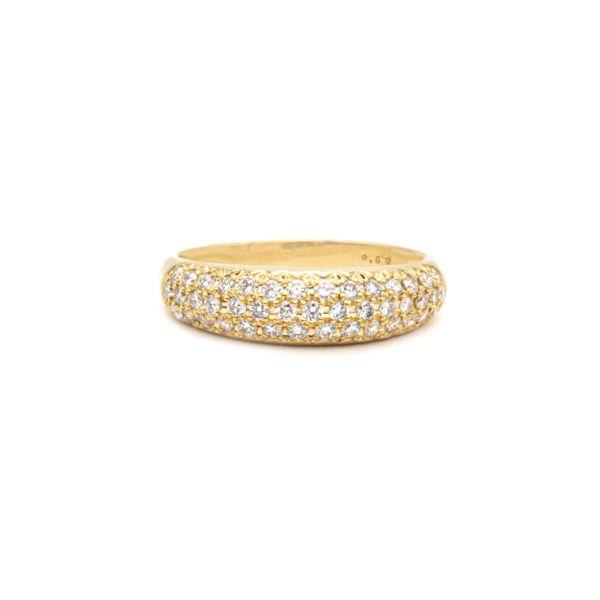 Diamond 0.50ct Yellow Gold K18 Ring
