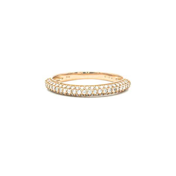 Diamond 0.30ct Pink Gold K18 Ring