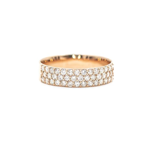Natural Diamond 0.50ct Pink Gold k18 Ring