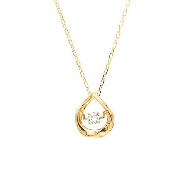 Top Swing Collection K18YG しずくモチーフ ダイヤモンドネックレス
