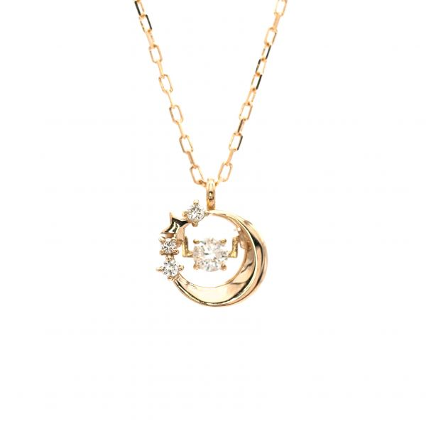 Swing Diamond Pendant Pink Gold k18