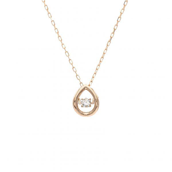 Top Swing Collection K18PG しずくモチーフ ダイヤモンドネックレス