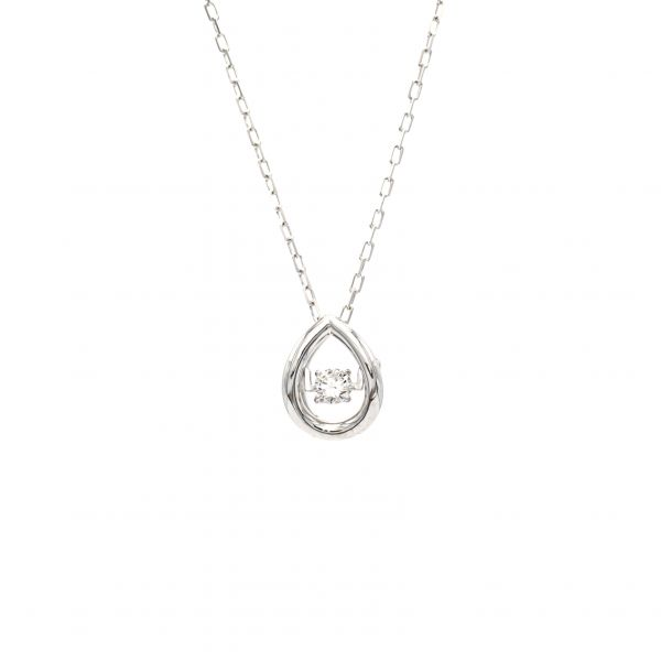 Top Swing Collection K18WG しずくモチーフ ダイヤモンドネックレス