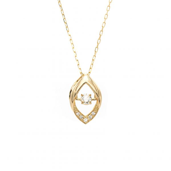Top Swing Collection K18YG マーキスモチーフ ダイヤモンドネックレス