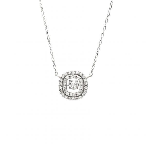 Swing Diamond Pendant White Gold k18.