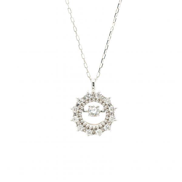 Top Swing Collection K18WG サークルダイヤモンドネックレス