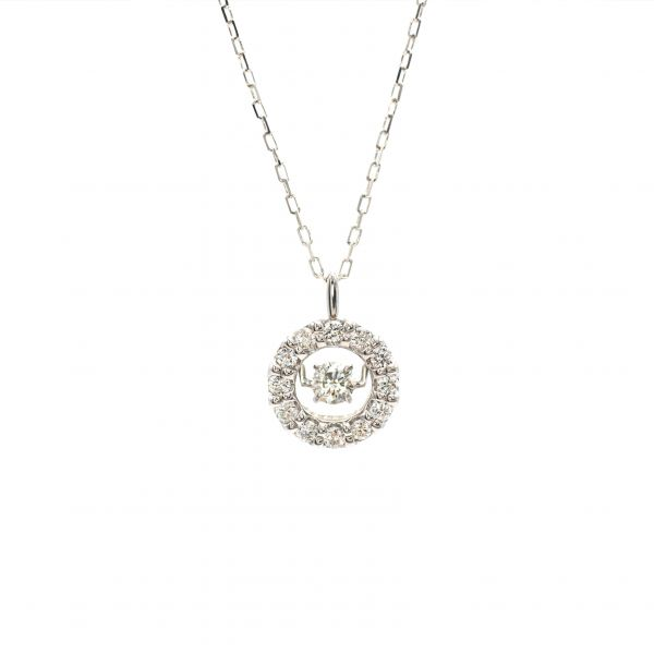 Swing Diamond Pendant White Gold k18.