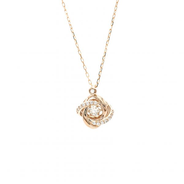 Swing Diamond Pendant Pink Gold k18